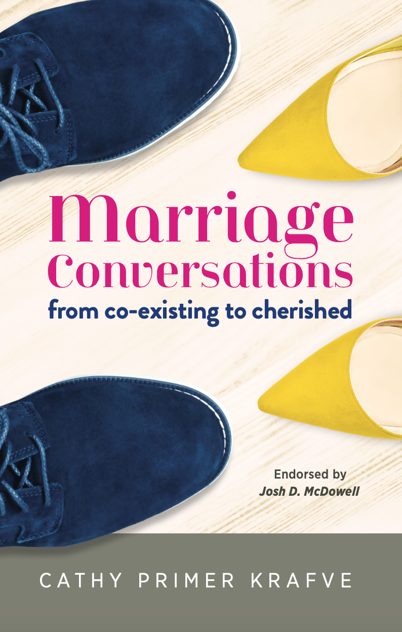 Marriage Conversations: From Coexisting to Cherished Our latest book. Packed with good stuff!