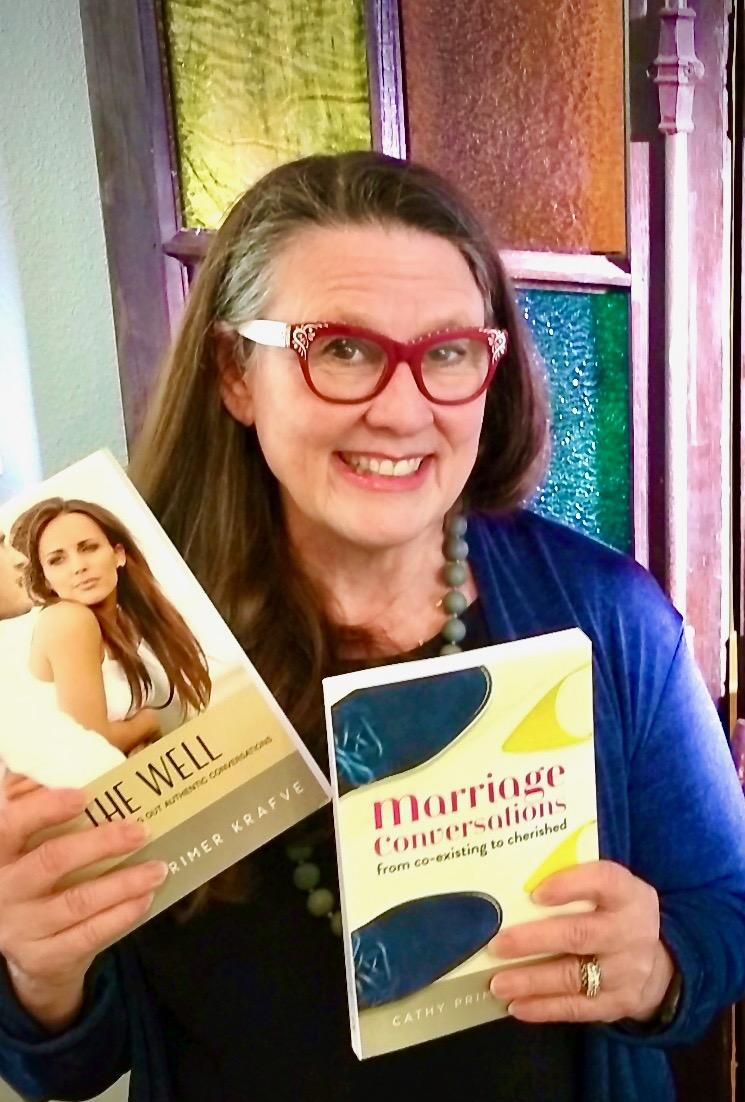 Cathy Krafve with Both Books (so far!)